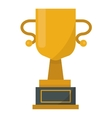 Gold cup trophy vector image