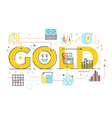 gold word lettering vector image