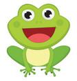 of cartoon frog vector image