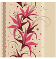 Seamless floral design vector image