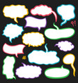 set of sketched speech bubbles vector image
