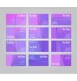 Set of twelve visit cards vector image