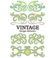 set of vintage floral elements for design vector image