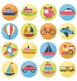 Transport icons set vector image