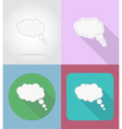 speech bubbles flat icons 06 vector image vector image