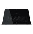Tablet Frontal View Leaning Back vector image