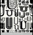 seamless vintage pattern letter U vector image vector image