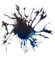 Beautiful traced watercolor splatter vector image
