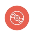 Reel player deck recorder thin line icon vector image