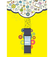 smartwatch wearable technology vector image