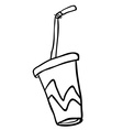 black and white soda vector image