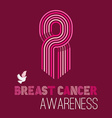 Breast cancer awareness campaign pink ribbon of vector image