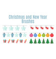 christmas and new year party flags buntings vector image
