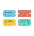 cinema tickets isolated on white background vector image