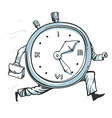 Clock running out of time vector image