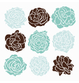 decorative roses vector image