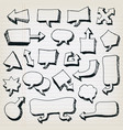 doodle cartoon speech bubbles set vector image