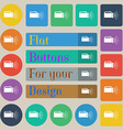 flashlight icon sign Set of twenty colored flat vector image