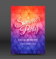 Flayer Design Template Summer Party vector image