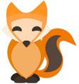 Happy Fox with Drop Shadow vector image