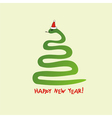 Happy new year snake background vector image