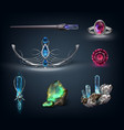 items with gemstones vector image
