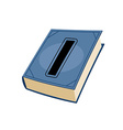 letter I at Vintage books in hardcover vector image