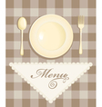 menu with cutlery vector image