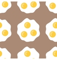 Seamless pattern with fried eggs Background of vector image