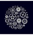 various cogwheels parts of watch movement in vector image