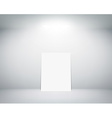 white sheet stands near a wall vector image