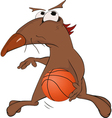 Dog the basketball player vector image vector image