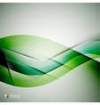 Beautiful wave modern template vector image vector image