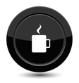 Button with cup of coffee vector image vector image