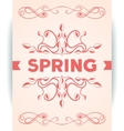 Spring word with leaves swirly vector image vector image