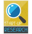 Start-up Research Retro poster in flat design vector image