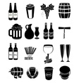 wine beer icons set vector image