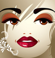 Face makeup Lips eyes and eyebrows of an vector image