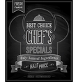 Chefs special vector image