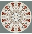 Disc With Original Art Elements vector image