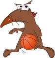 Dog the basketball player vector image