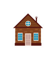 flat private house icon isolated vector image