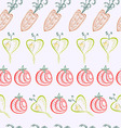 pattern of graphical abstract carrot tomato turnip vector image