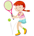 Woman tennis player with racket and ball vector image