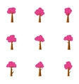 Tree set of collection stock vector image