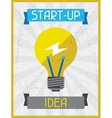 Start-up Idea Retro poster in flat design style vector image