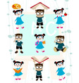 cute students vector image