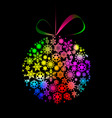 multicolored christmas ball vector image vector image