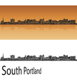 South Portland skyline in orange vector image