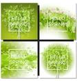 Fresh spring green tree leaves frame vector image